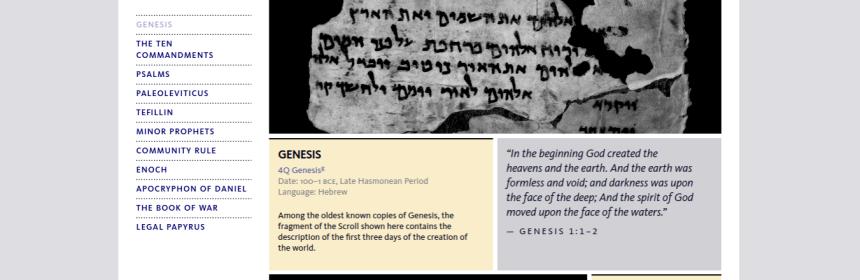 Dead Sea Scroll Genesis