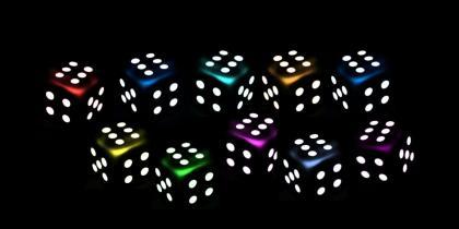 Ten dice at sixes