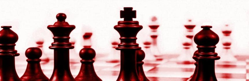 Chess game in red