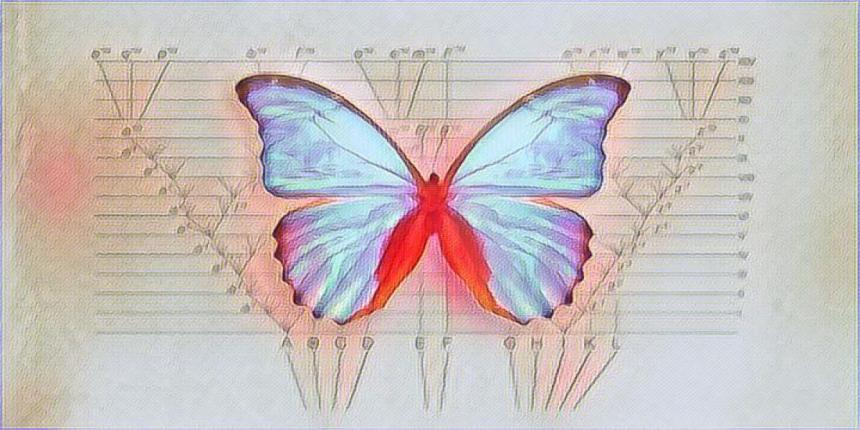 New Origin of Species butterfly artwork