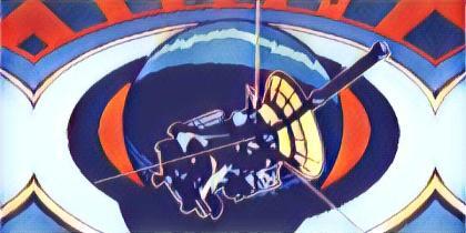 Artwork from Cassini Swansong Poster