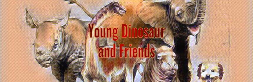 Young Rapetosaurus Dinosaur and Friends
