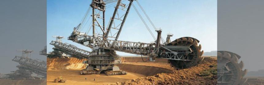 Huge coal excavator