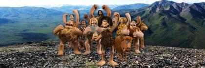 Stone age tribe cartoon