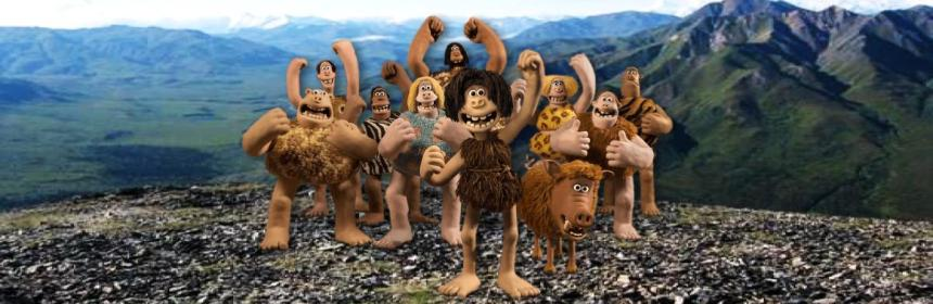 Stone age tribe cartoon